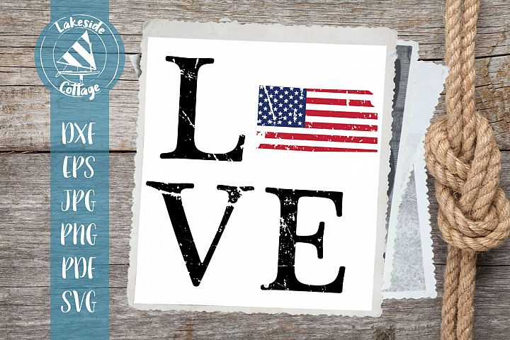 LOVE Kansas - 4th of july svg - memorial day svg dxf eps