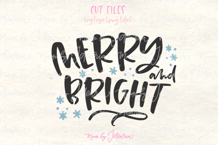 Merry and Bright svg, merry Christmas svg, christmas 2018 sv