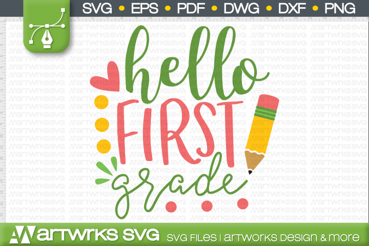 Back to school SVG files for Cricut | Hello first grade