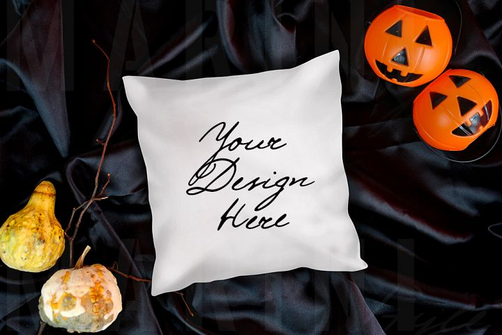 Pillow Mockup, Halloween pillow mock up, Craft mockup 1086