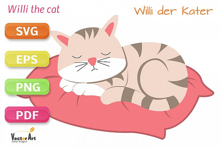 Sleeping Cat - SVG File for Crafters