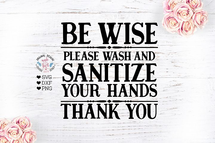 Wash And Sanitize Your Hands Cut File