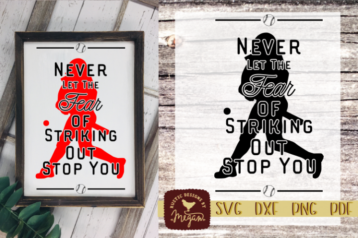 Baseball Inspirational Motivational Quote SVG DXF Comm