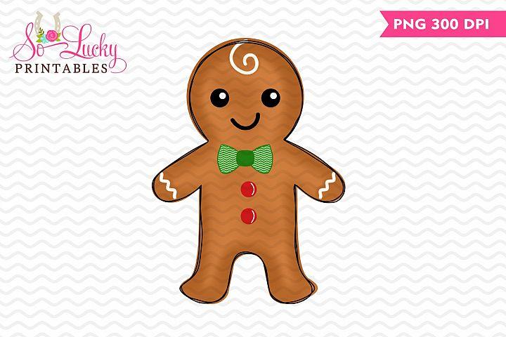 Gingerbread Boy Christmas printable sublimation design