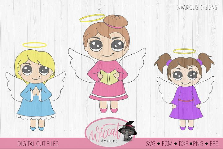 Three little angels, Angel bundle, Kawaii angel, Cute angel