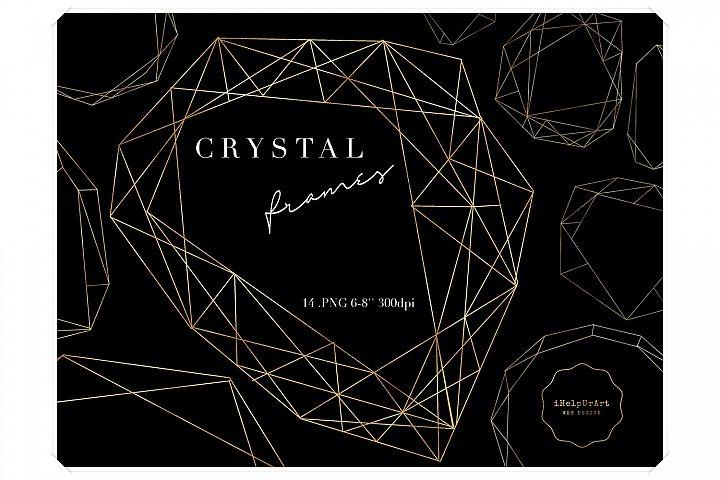Crystal Frames - Polygonal Digital Frames Clipart