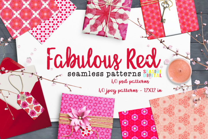 Fabulous Red Seamless Patterns