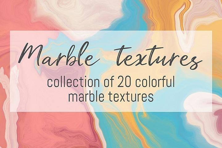 Colorful marble textures bundle