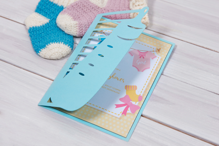 Baby Shower Invitation Pacifier cutting file