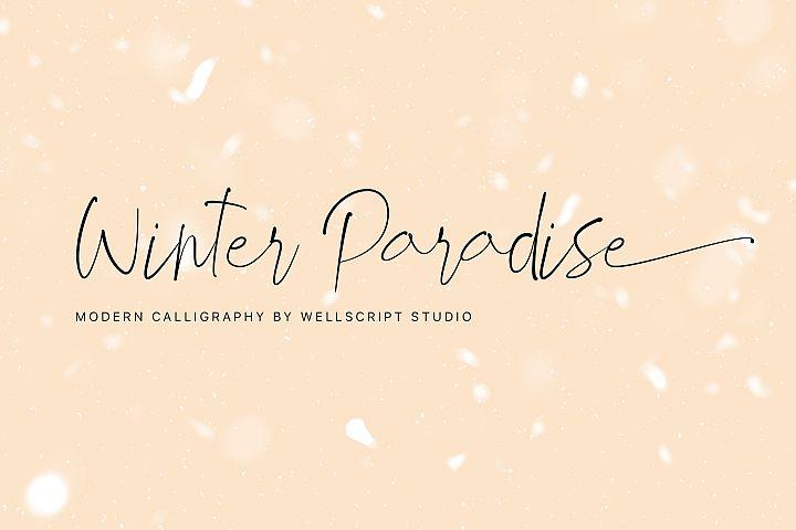 Winter Paradise - Modern Script
