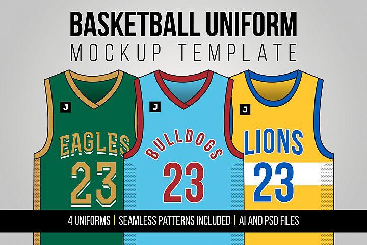 Basketball Uniform Mockup Template