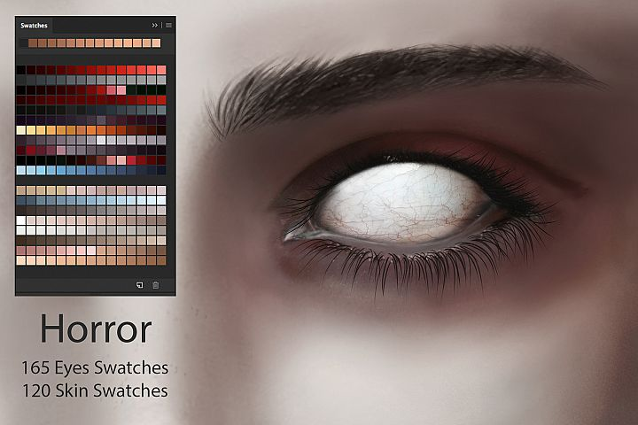 Horror Eyes & Skin Ps Swatches