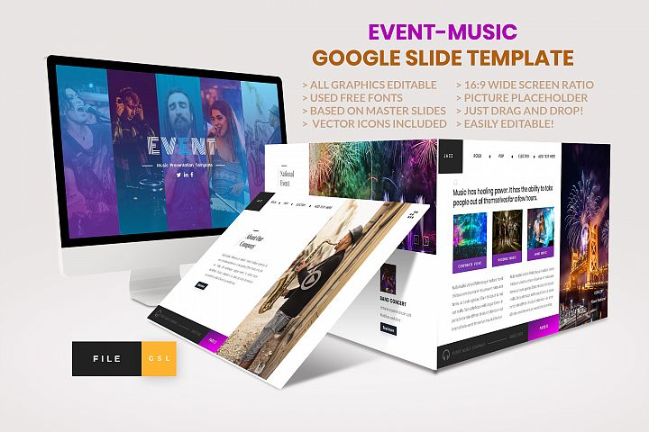 Event - Music Google Slide Template