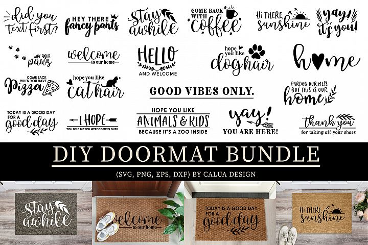 DIY Doormat SVG Cut File Bundle