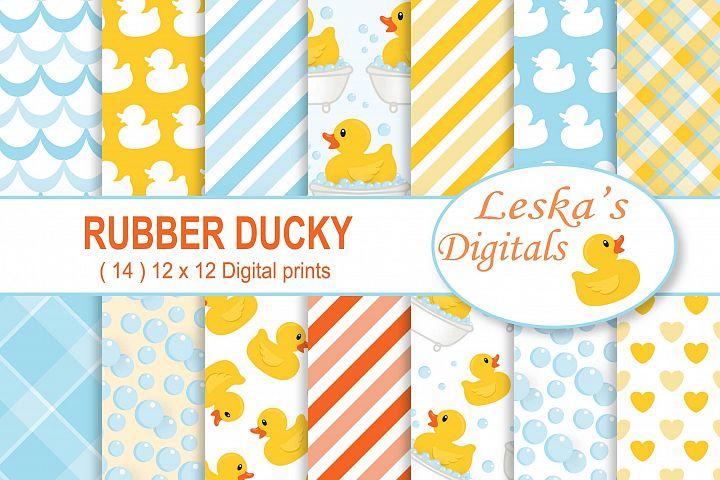 Rubber Duck Digital Paper Rubber Ducky Scrapbook Paper