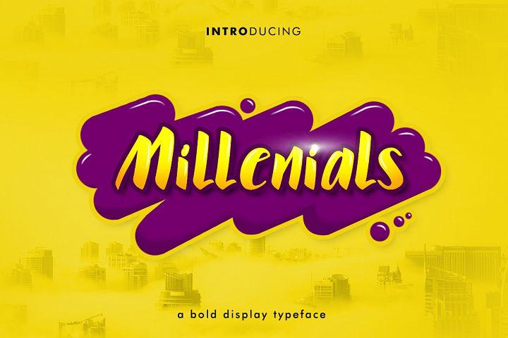 Millenials Font 30% off