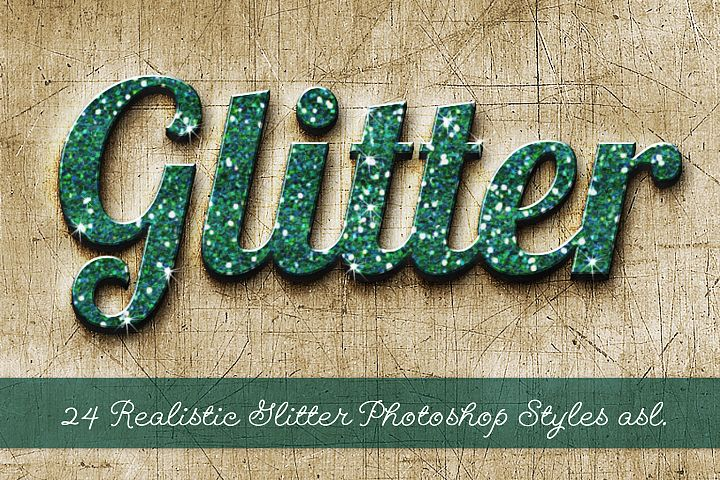 24 Realistic Glitter Photoshop Styles asl example 6