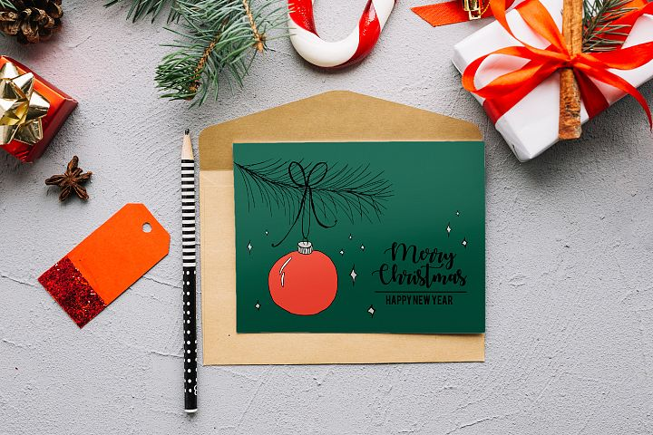 Christmas Ball - Christmas Card