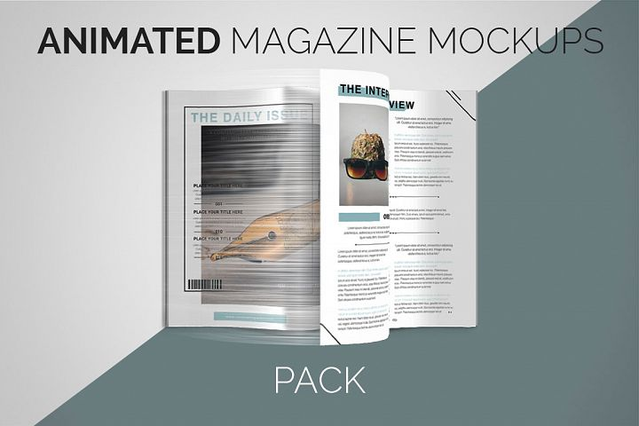 Animated Magazine Mockups | PACK