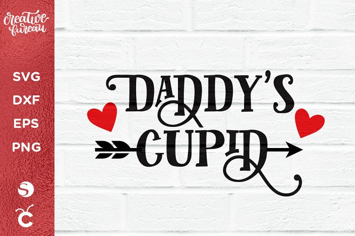 DaddyS Cupid SVG DXF, Kids Valentines Day SVG DXF