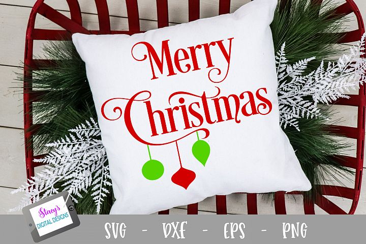 Christmas SVG - Merry Christmas with ornaments