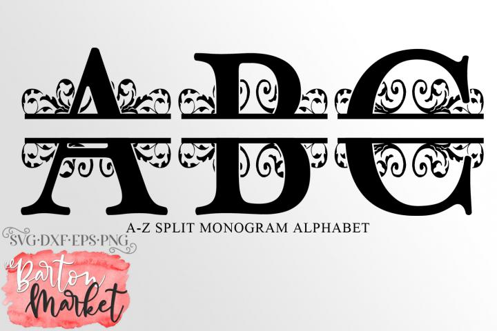 Split Letters A-Z Alphabet SVG DXF EPS PNG