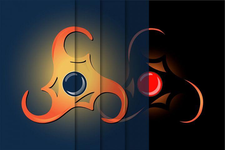 Magical Celtic symbol Triskelion