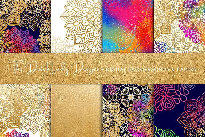 Mandala Pattern Scrapbook Papers