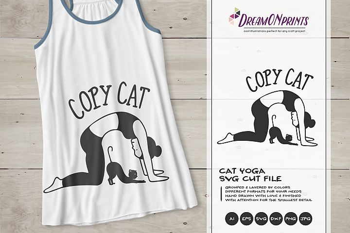 Copy Cat | Cat Yoga SVG | Fun Yoga Design