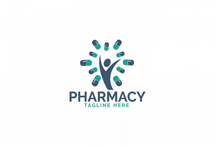 Pharmacy medical logo design.
