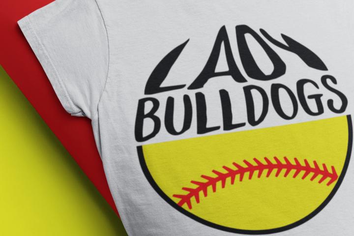 bulldogs softball svg softball mom Lady bulldogs shirt svg