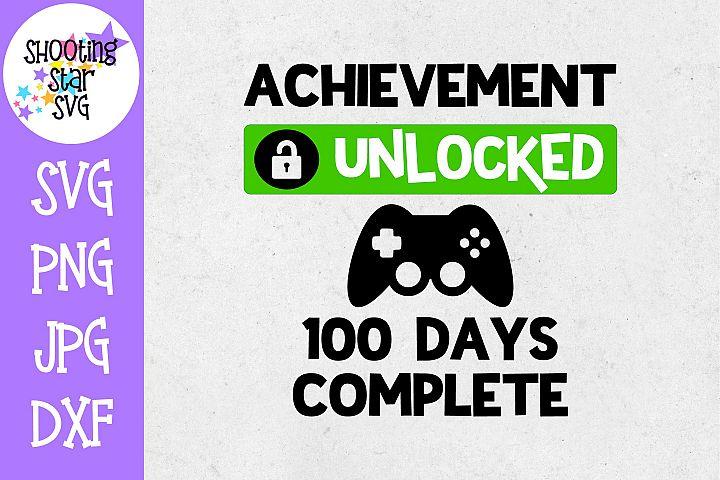 Achievement Unlocked 100 Days of School SVG