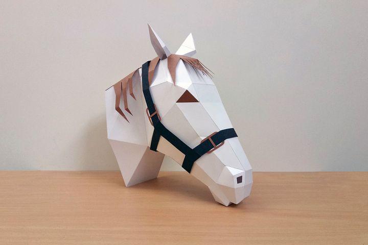 DIY Horse Trophy - 3d papercraft