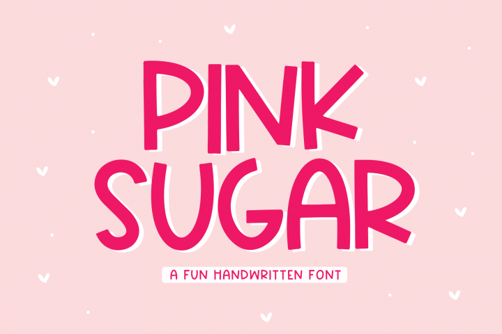 Pink Sugar - A Fun Handwritten Font