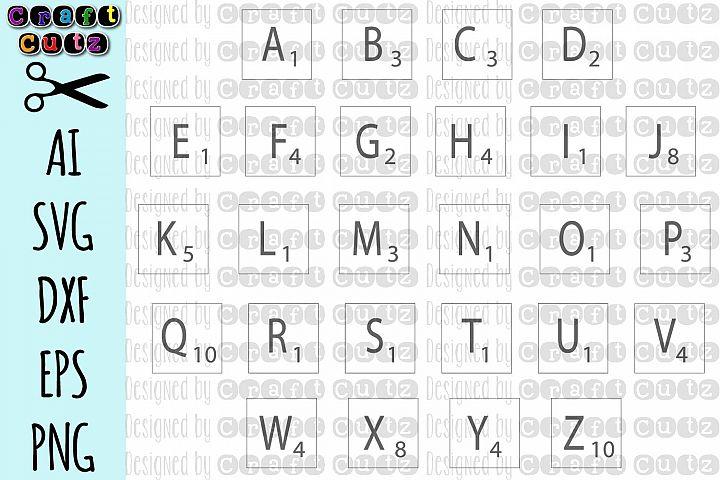 Letter Tile svg, DIY Letter Tiles, Letter Wall Stencil