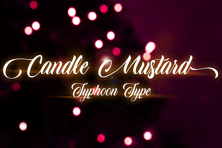 Candle Mustard font