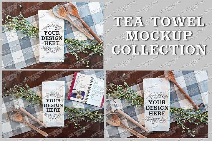 Farmhouse Kitchen Tea Towel Mockup Collection Bundle Set