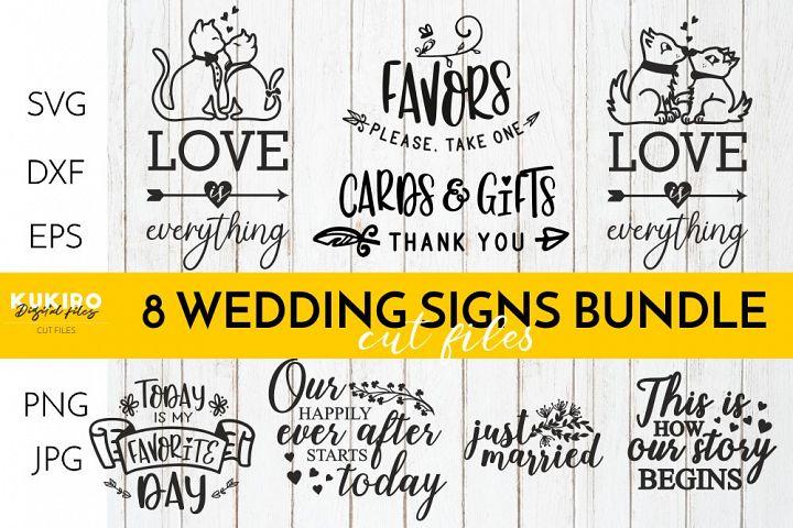 WEDDING Signs Bundle - Isle decor Cut files