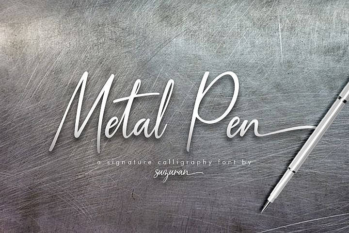 Metal Pen Script 3 Fonts