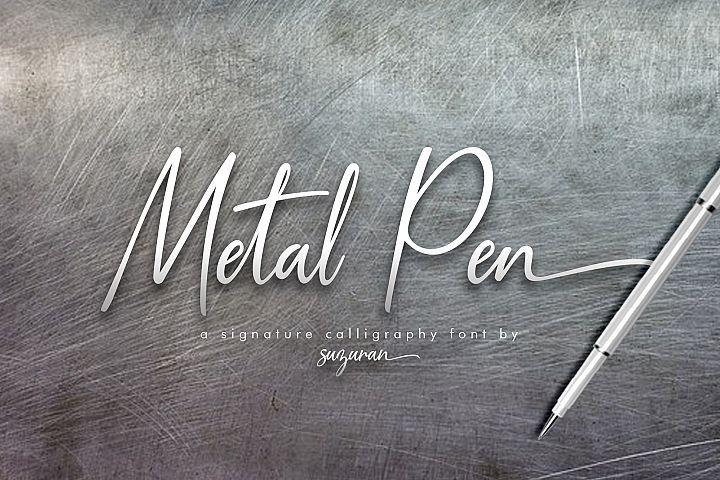 Metal Pen Script 3 Fonts