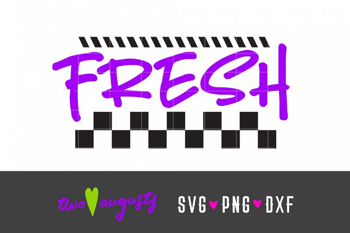 Fresh, 80s, 80s, SVG, DXF, PNG \\ neon, cursive, fun, wild