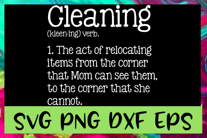 Cleaning Definition SVG PNG DXF & EPS Design Files