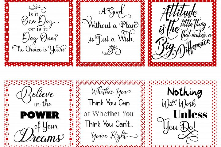Social Media Graphics - Set 1 Red