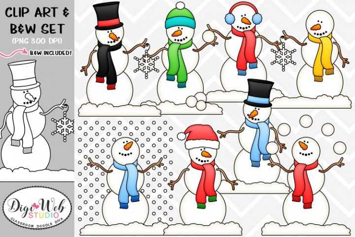 Clip Art / Illustrations - Let It Snow