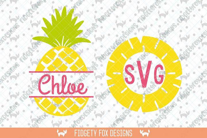 Monogram SVG Bundle , Pineapple svg, Clipart Summer Svg. Svg Files for Cricut and Silhouette machines, Summer Beach Svg ,