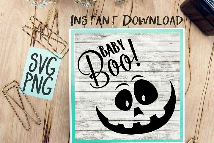 Baby Boo Jack-O-Lantern Funny Halloween SVG PNG Cricut Cameo Silhouette Brother Scan & Cut Crafters Cutting Files