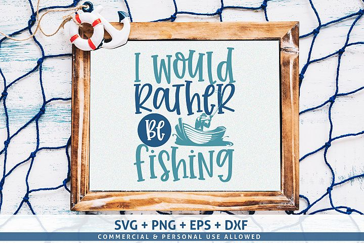 I would rather be fishing SVG