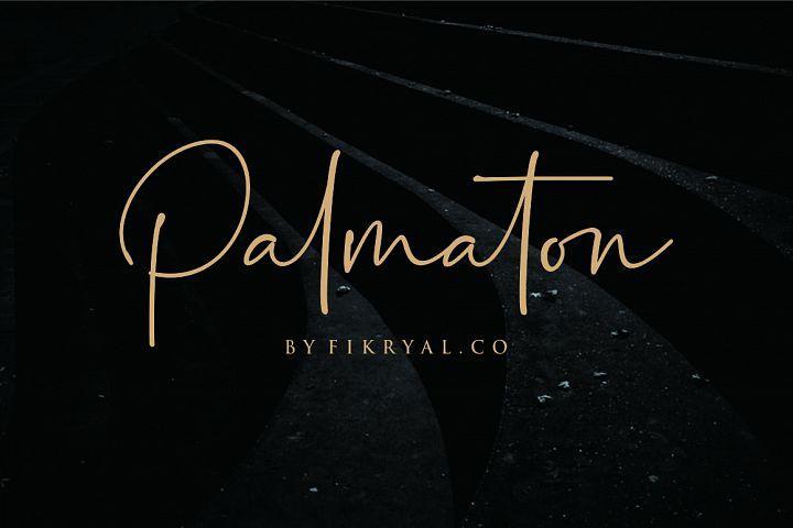 Palmaton - Handwritten font