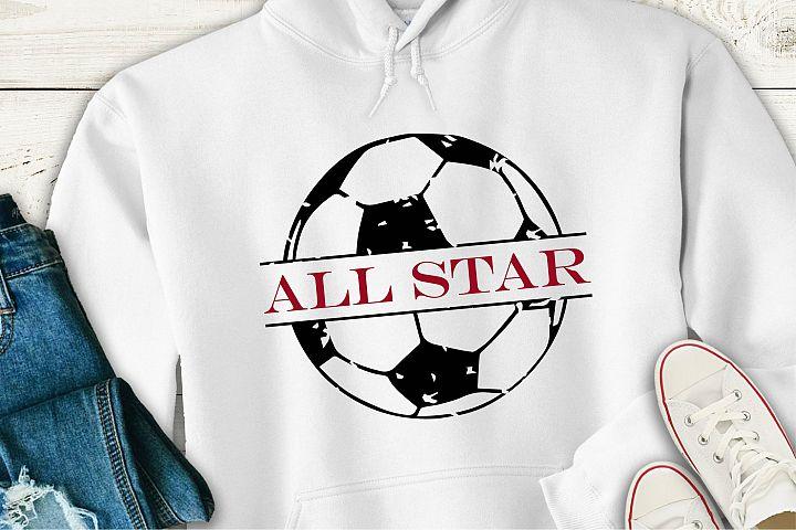 Soccer All Star Grunge SVG, Sublimation, PNG EPS Sports File