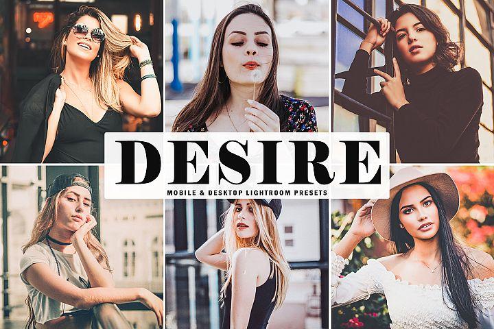 Desire Mobile & Desktop Lightroom Presets